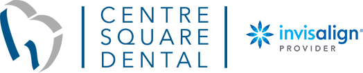 Centre Square Dental and Invisalign logos